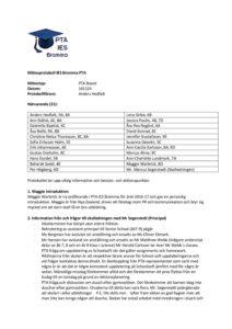161124 PTA Reps Meeting Minutes   PTA Bromma